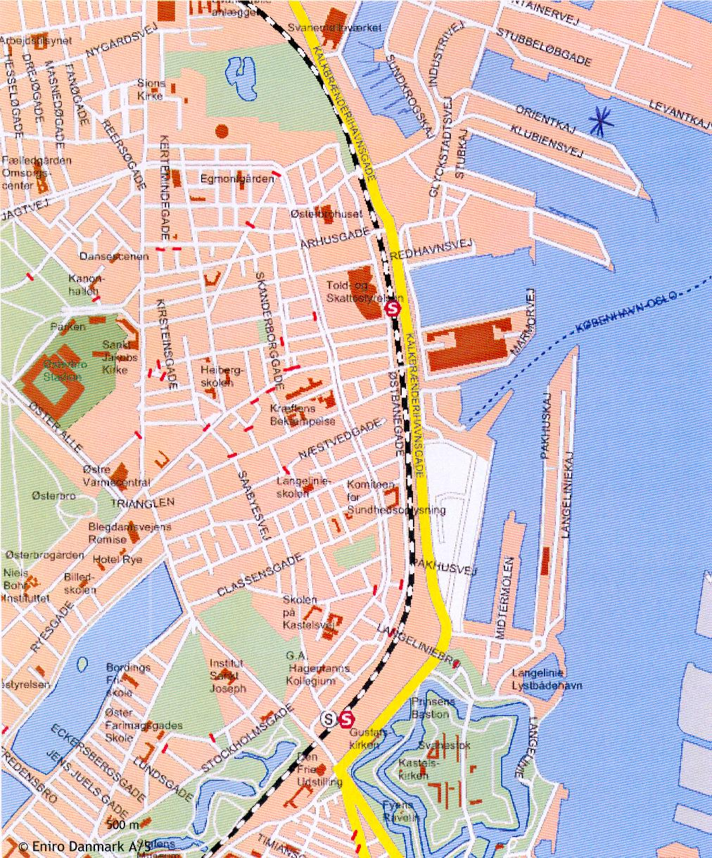 köpenhamn karta MSC Cruises hamninformation köpenhamn karta